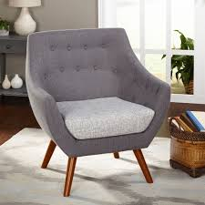 simple living elijah heather grey fabric chair by simple living