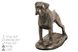 boxer dog statue solid wood casket boxer uncropped urn for dog u0027s ashes with dog