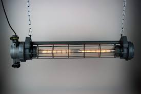 ussr industrial tube lamp converted into two e27 fittings with led