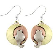 cat earrings moonlight cat earrings the animal rescue site