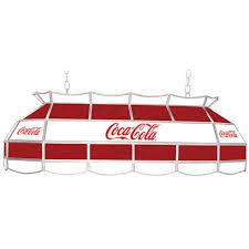 coca cola pendant lights coca cola red and white vintage 40 tiffany 3 light pendant