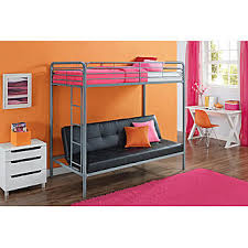 Futon Bunk Bed With Mattress Essential Home Black Payton Twin Over Futon Bunk Bed
