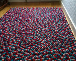 baby carpet colorful soft texture wool safe felt balls clearance sale