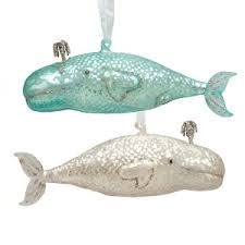 whale ornaments set of 2 sold out