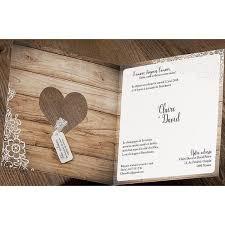 faires parts mariage faire part mariage romantique chic bois fleurs dentelle belarto