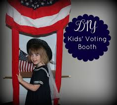 how to make your own photo booth how to make a pretend voting booth just in time for election day