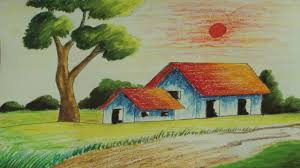 Pictures Of Landscapes by Pastel Painting How To Draw A Simple Landscape Episode 5 Youtube