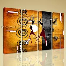 large vintage african ethnic figure retro home decor wall art