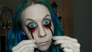 gory sfx halloween makeup tutorial pulled eyes youtube