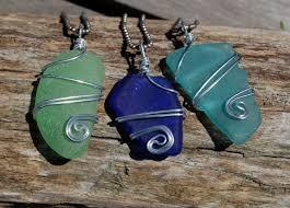 sea glass ornaments suegray seaglass