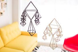 how to repurpose straws to make modern geometric mobiles brit co