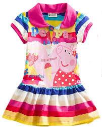 amazon com yuting little girls u0027 summer peppa pig dress lapel