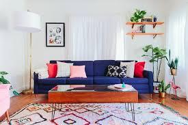 coussin decoration canapé déco idee deco salle a manger salon canape bleu coussins
