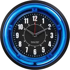 cool blue led wall clock 107 dbtech oversized digital blue led