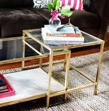 ikea hacks coffee table my style republic ikea hack gold coffee tables