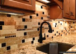 Brown Glass Subway Travertine Backsplash Tile Kitchen Tile Ideas - Travertine tile backsplash