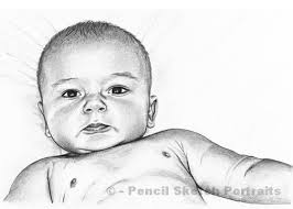 baby drawing sketches pencil portraits and drawings of babies