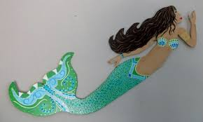 Mermaid Bathroom Decor Wooden Mermaid Wall Hanging Nana U0027s Workshop
