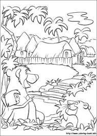 jungle book coloring picture art therapie disney