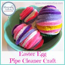 easter egg craft decorating with pipe cleaners