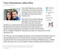 new york times wedding announcement ny times wedding announcement tracy and adam brett matthews