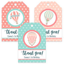 thank you tags whimsical flight birthday favor thank you tags honey d s party