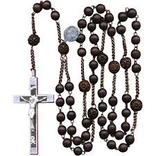 rosary of the seven sorrows scarce seven sorrows wood habit rosary aluminum steel