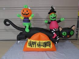 halloween inflatable image gemmy prototype airblown inflatable halloween cat teeter