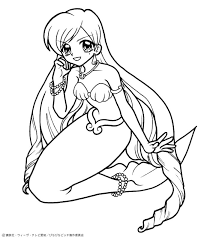 drawings mermaid kids coloring