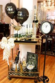 new year u0027s eve bar cart party drink cart small bottles and bottle