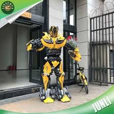 Coolest Transforming Bumblebee Transformer Costume Transformer Bumblebee Transformer Led Lights Bumblebee Transformer Cosplay