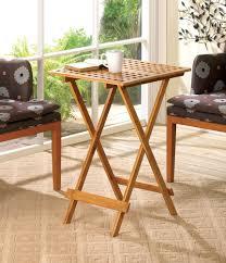 Folding Tray Table Set Wood Folding Tray Table Wholesale At Koehler Home Decor