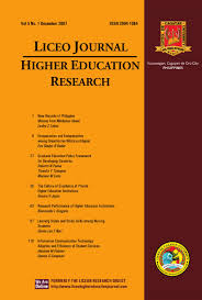 liceo journal of higher education research 2007 by brian