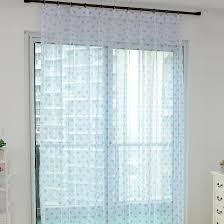 White Polka Dot Sheer Curtains Modern White Baby Blue Yarn Polka Dot Sheer Curtains