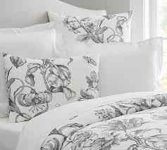 pippa floral print organic duvet cover u0026 sham pottery barn