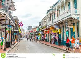 Street Map New Orleans French Quarter by Street Scene In The French Quarter In New Orleans Editorial Image