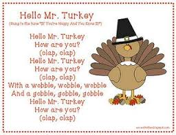 mr turkey thanksgiving songs thanksgiving and activities