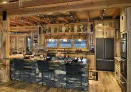 Kitchen Ideas Walls And Floors Cabin Ideashouse Ideaslog Log Cabin - Cabin kitchen cabinets