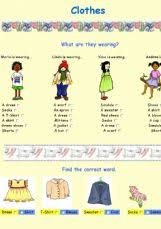 english exercises the clothes