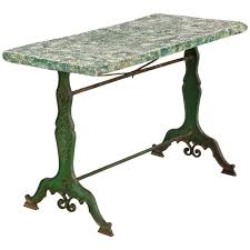 concrete top outdoor table late 1800s french concrete top garden table with cast iron base for