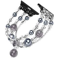 pearl bracelet elastic images Tomazon apple watch band fashion handmade elastic stretch faux jpg