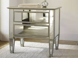 Glass Bedside Table by Bedroom Furniture Modern Mirrored Nightstand Drawer Bedside