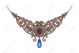 vintage necklace design images Jewelry design vintage necklace hand drawing and painting on jpg