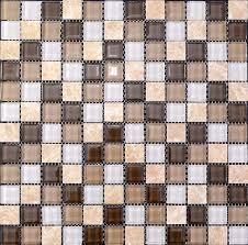 Stone  Glass Blend Mosaic Wall Tiles Marble Tile Flooring SG - Stone glass mosaic tile backsplash
