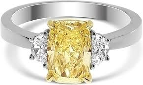 fancy yellow diamond engagement rings 1 79ct cushion cut fancy yellow diamond engagement ring ydcr5399