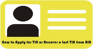 how to apply for tin or recover a lost tin from bir business