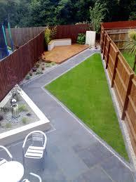 Patio And Garden Ideas Wonderful Narrow Backyard Patio And Garden Design Suburban Spaces