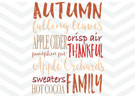 thanksgiving sayings about family autumn fall svg file subway art svg thankful svg apple