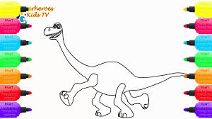 how to draw a dinosaur coloring pages for kids art colors for