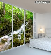 sunbeam through trees wall mural wallpaper photowall home fotomurales la cascada del bosque